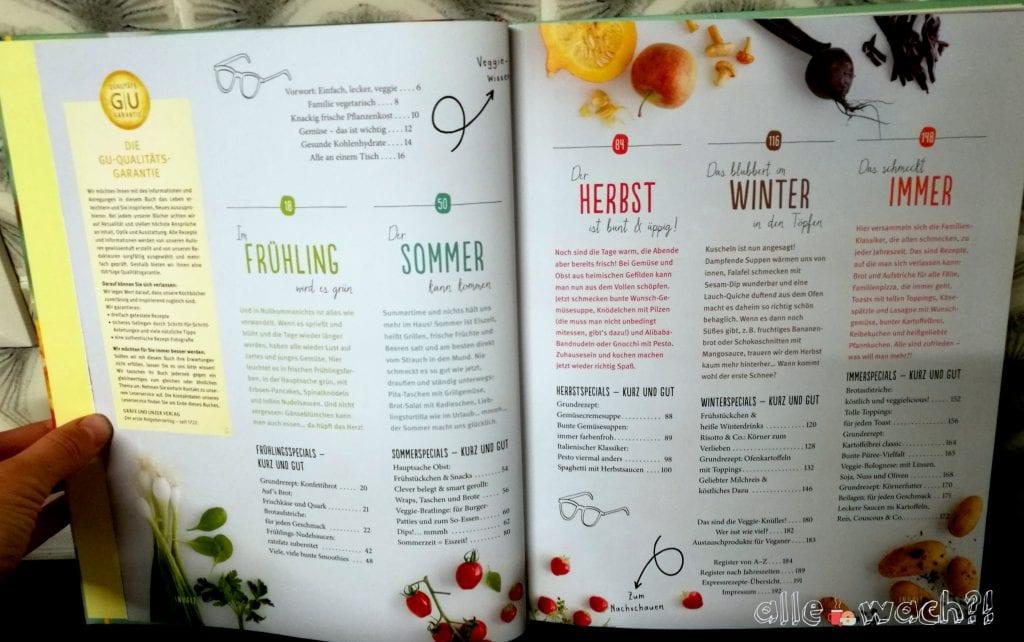 Kochbuch mit saisonaler Aufteilung