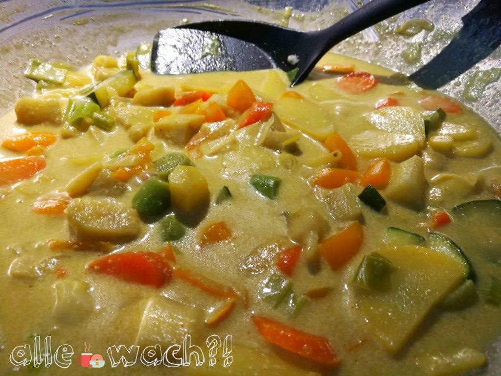 Gemüse-Curry mit Kokosmilch