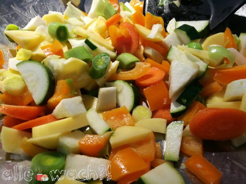 Schnelles Gemüsecurry mit variablem Gemüse