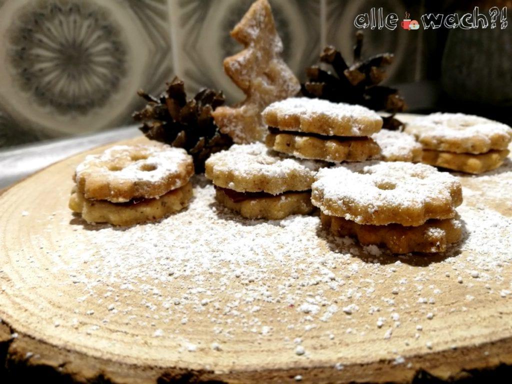 Rezept für Linzer Plätzchen mit Mandeln und Haselnüssen