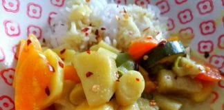 Schnelles Gemüse-Curry mit Reis