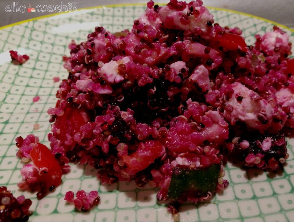 Rote Bete und Quinoa sind gesund