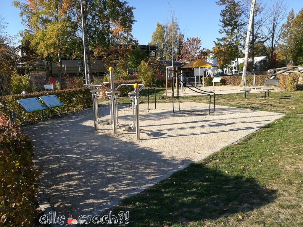 Eine Mischung aus Spielplatz und Outdoor-Fitnessstudio