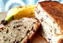 Bananenbrot Bananabread ohne Zucker mit Dinkelmehl