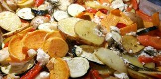 Ofengemüse vom Blech mit Feta