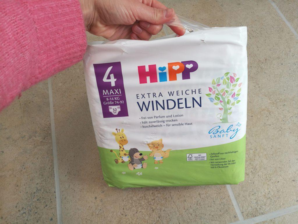 Die neuen Hipp Windeln Babysanft haben eine handliche Verpackung mit Griff