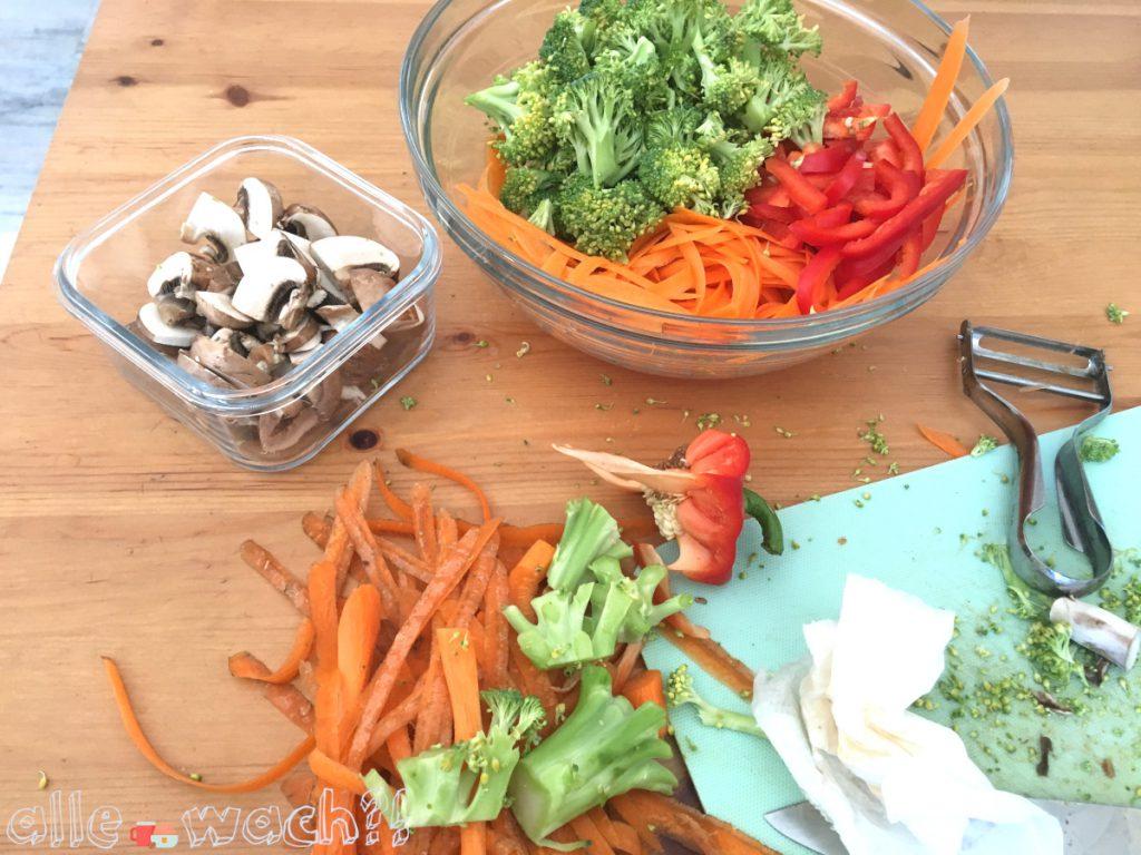 Rezept gebratene Asia-Nudeln mit Gemüse