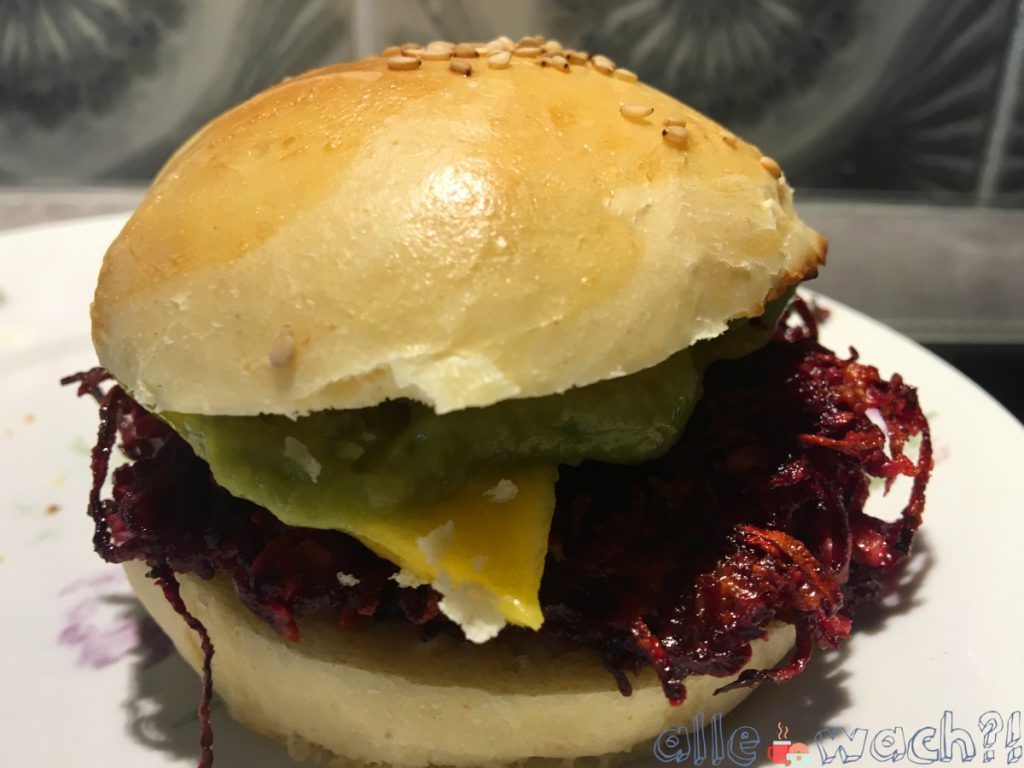 Vegetarische Burger-Alternative: Rote Bete Burger