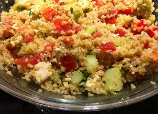 Rezept orientalischer Bulgursalat mit Feta und Granatapfel